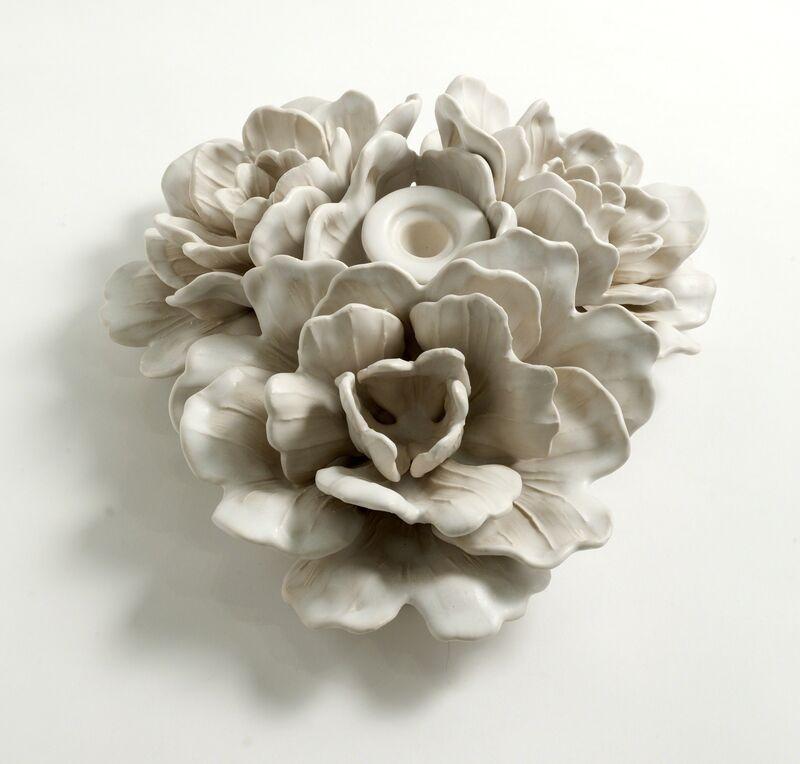 Matthew Solomon, 'Floral Centerpiece with Candle Bobeche', 2015, Design/Decorative Art, Glazed porcelain, Maison Gerard