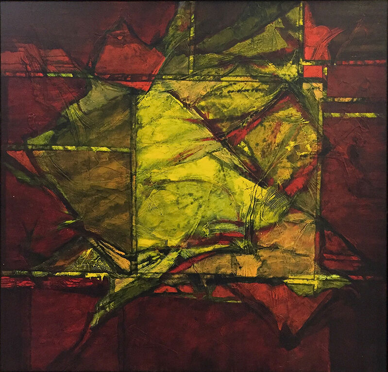 Carl Morris, 'Red and Yellow Facets', 1980, Painting, Acrylic on canvas, Russo Lee Gallery