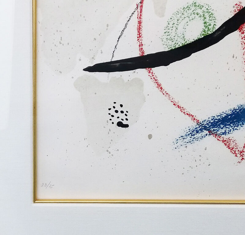 Joan Miró, 'PL. 9 (FROM MARAVILLAS CON VARIACIONES ACRÓSTICAS EN EL JARDIN DE MIRO)', 1975, Print, LITHOGRAPH, Gallery Art