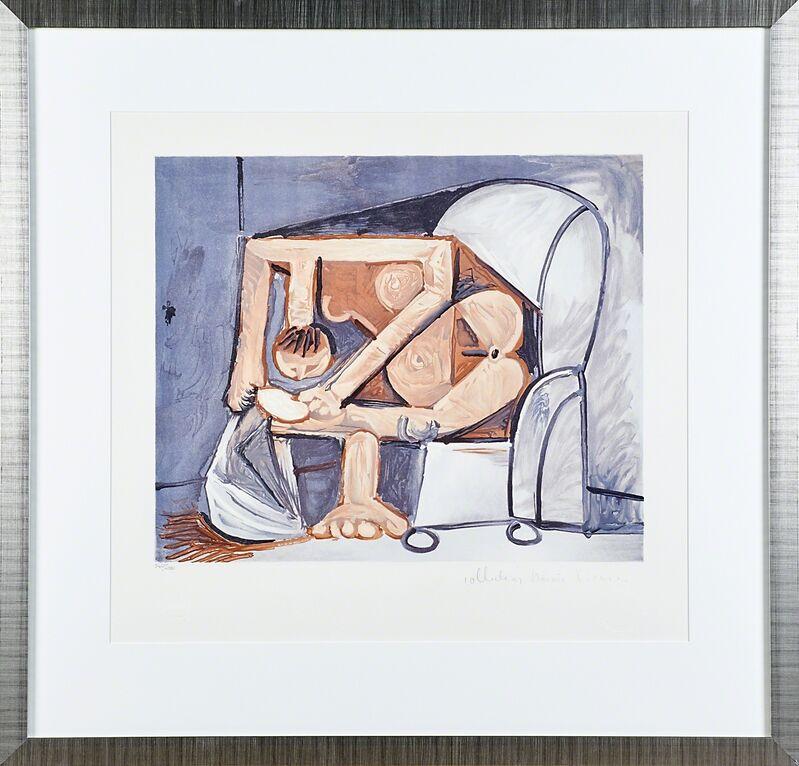 Pablo Picasso, 'Nue Allongée Et Tête D'Homme De Profil, Femme À La Toilette (Two Works)', Print, Lithographs in colors, Rago/Wright