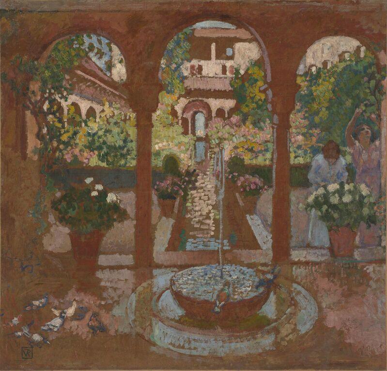 Théo van Rysselberghe, 'Garden of the Generalife in Granada', 1913, Painting, Oil on hardboard, de Young Museum