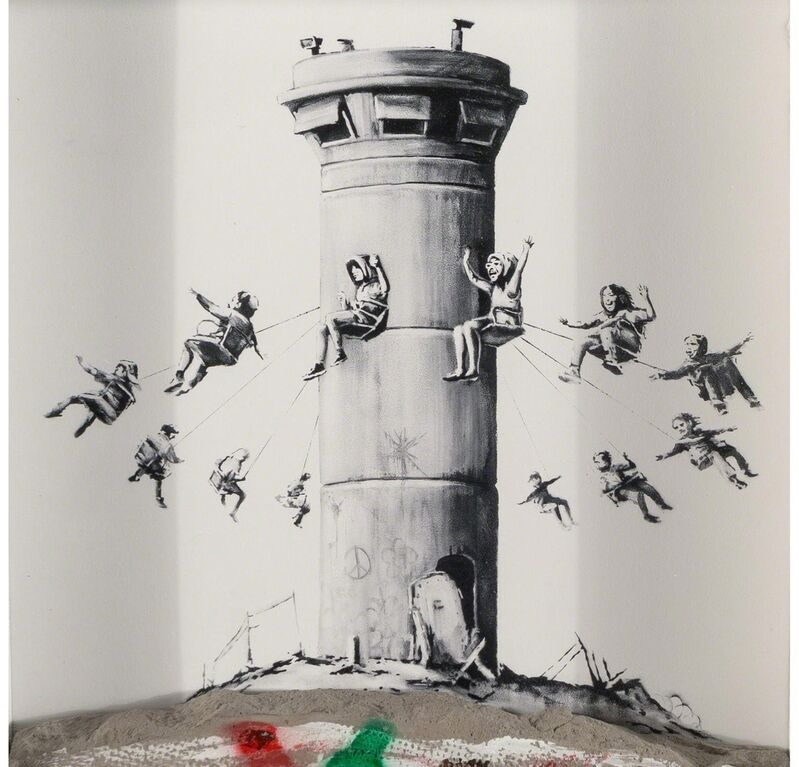 Banksy, 'Walled Off Hotel with Piece of Wall', 2017, Sculpture, Paper & Concrete, The Drang Gallery