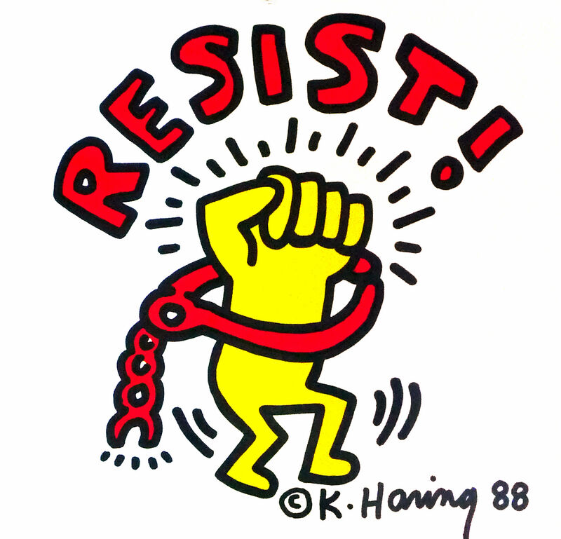 Keith Haring, 'Keith Haring Resist in Concert! poster 1988 ', 1988, Posters, Offset lithograph, Lot 180