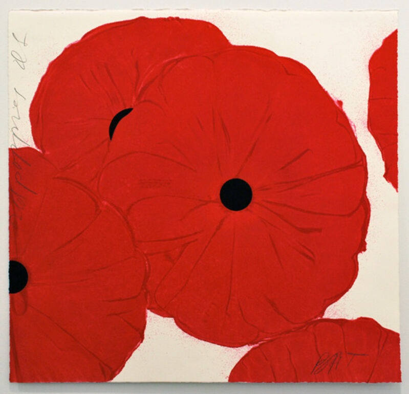 Donald Sultan, 'Red Poppies', 2012, Print, Color silkscreen and flocking, ARC Fine Art LLC