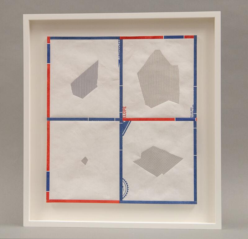Stephen Sollins, 'Forwarding (study)', 2015, Mixed Media, Electrostatic printed paper, printed tyvek, American Folk Art Museum Benefit Auction