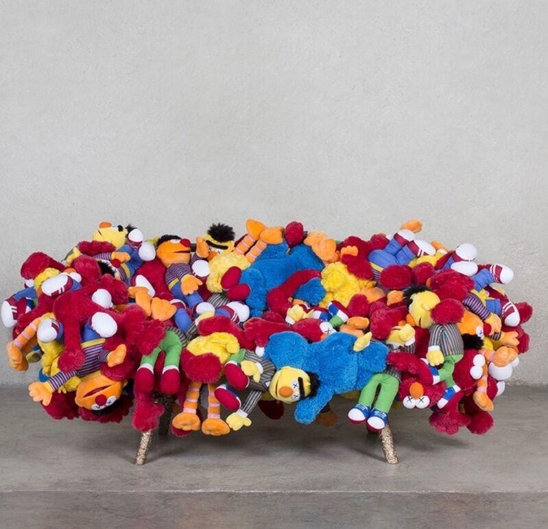 KAWS, 'Gang (Sofa)', 2019, Other, Plush toys, bronze, ArtLife Gallery