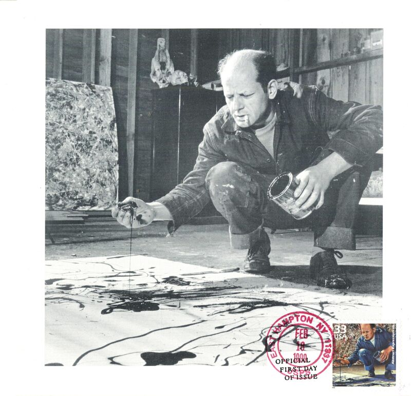 Jackson Pollock, 'Exclusive invitation with first day cover  ', 1999, Ephemera or Merchandise, Offset lithograph fold out invitation with postmarked first day cover, Alpha 137 Gallery