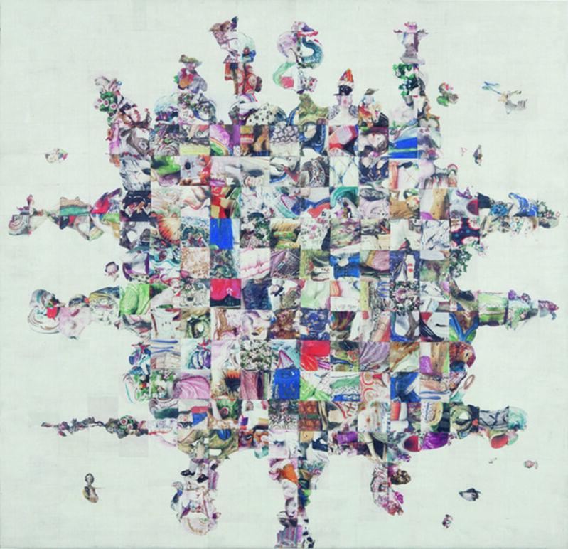 Joel Carreiro, 'Pninian', 2007, Mixed Media, Heat transfer on birch, International Collage Center
