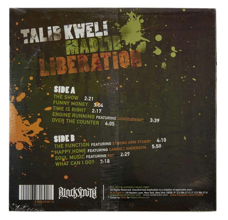 Banksy, 'LIBERATION (album of Telib Kweli & MADLIB)', 2007, Ephemera or Merchandise, LP Cover, AYNAC Gallery