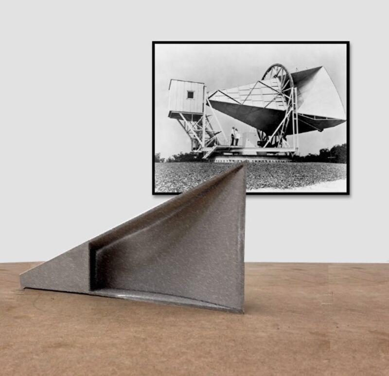 Emilio Chapela, 'Holmdel Antenna', 2014, Installation, Iron sheet and digital print, Henrique Faria Fine Art