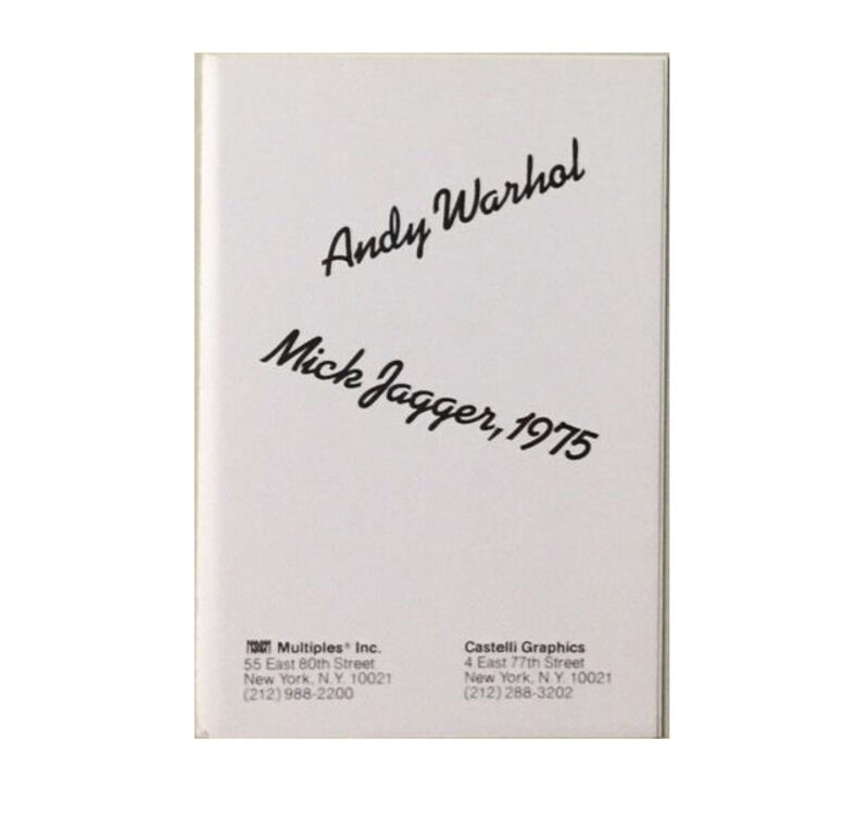 "Andy Warhol, '""JAGGER"", 10 -Promo Mini-Cards, 1975, Leo Castelli Graphics, MUSEUM QUALITY', 1975, Ephemera or Merchandise, Lithograph, VINCE fine arts/ephemera"