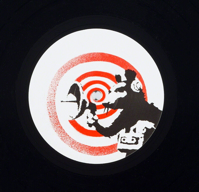 Banksy, 'Banksy Radar Rat vinyl record art', 2008, Print, Silkscreen on vinyl record jacket, vinyl record label, Lot 180
