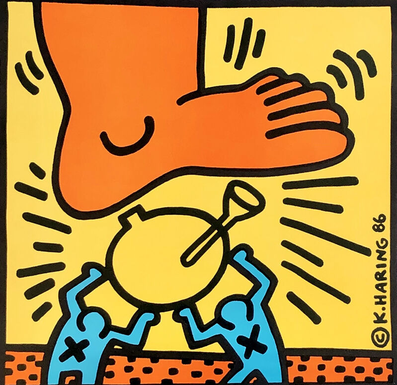 Keith Haring, 'Crack Down!', 1987, Posters, Offset lithograph in colors, Lot 180