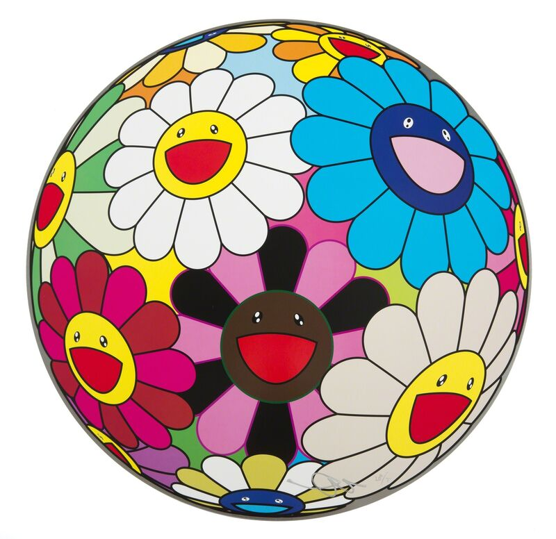 Takashi Murakami, 'Flower Ball (Algae Ball)', 2013, Print, Offset lithograph on paper, Julien's Auctions