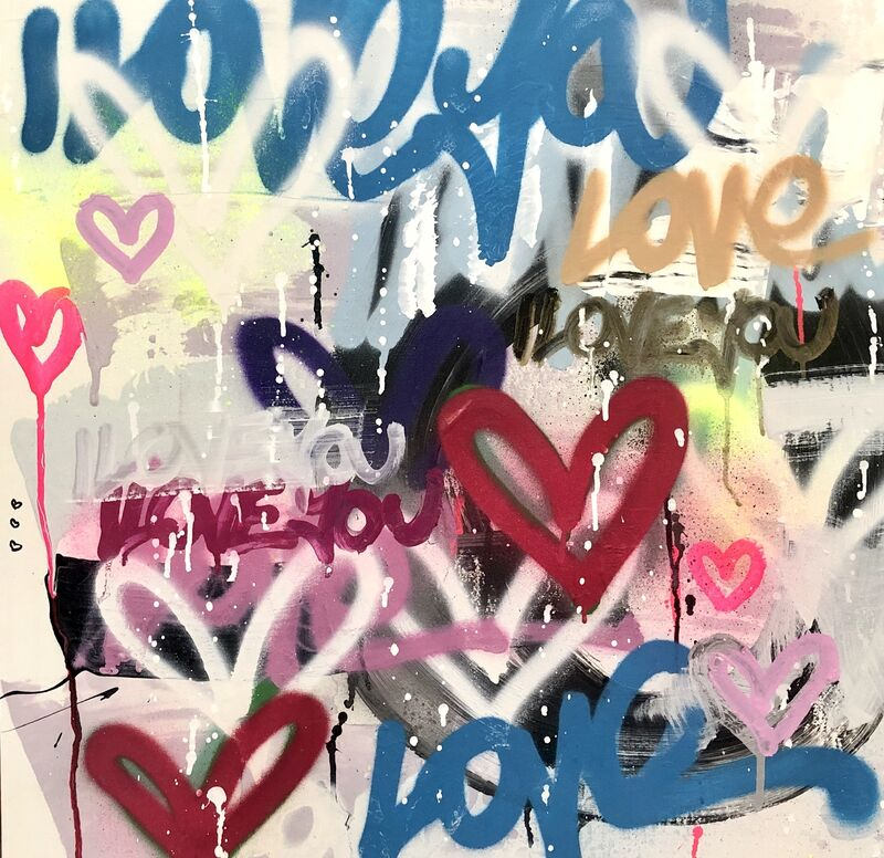 Amber Goldhammer, 'Love in 2020', 2020, Painting, Acrylic, Latex, Spray, Pen on Canvas, Ethos Contemporary Art