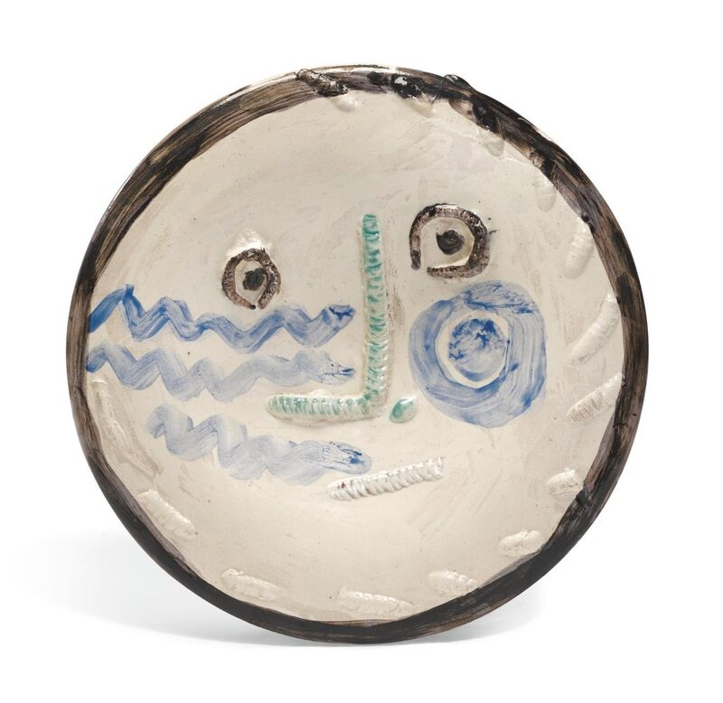 Pablo Picasso, 'Visage au nez à angle droit', 1963, Sculpture, Painted, modeled and glazed ceramic, BAILLY GALLERY