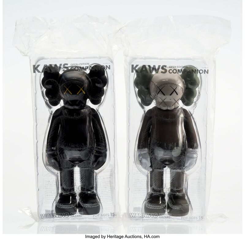 KAWS, 'Companion (Black and Brown) (Open Edition) (two works)', 2016, Other, Painted cast vinyl, Heritage Auctions