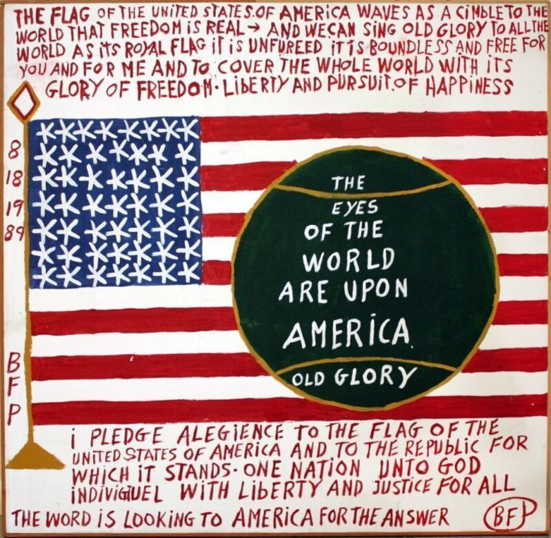 Benjamin Franklin Perkins, 'The Future of American', 1988, Painting, Oil on canvas, Pan American Art Projects