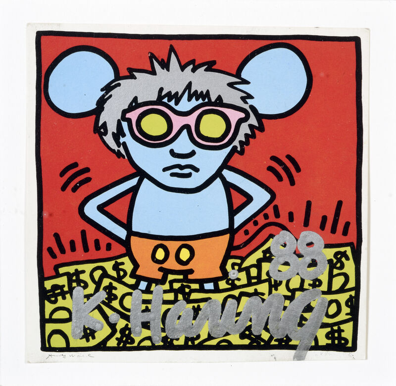 Keith Haring, 'Untitled (Andy mouse)', 1988, Print, Offset print on paper, DIGARD AUCTION