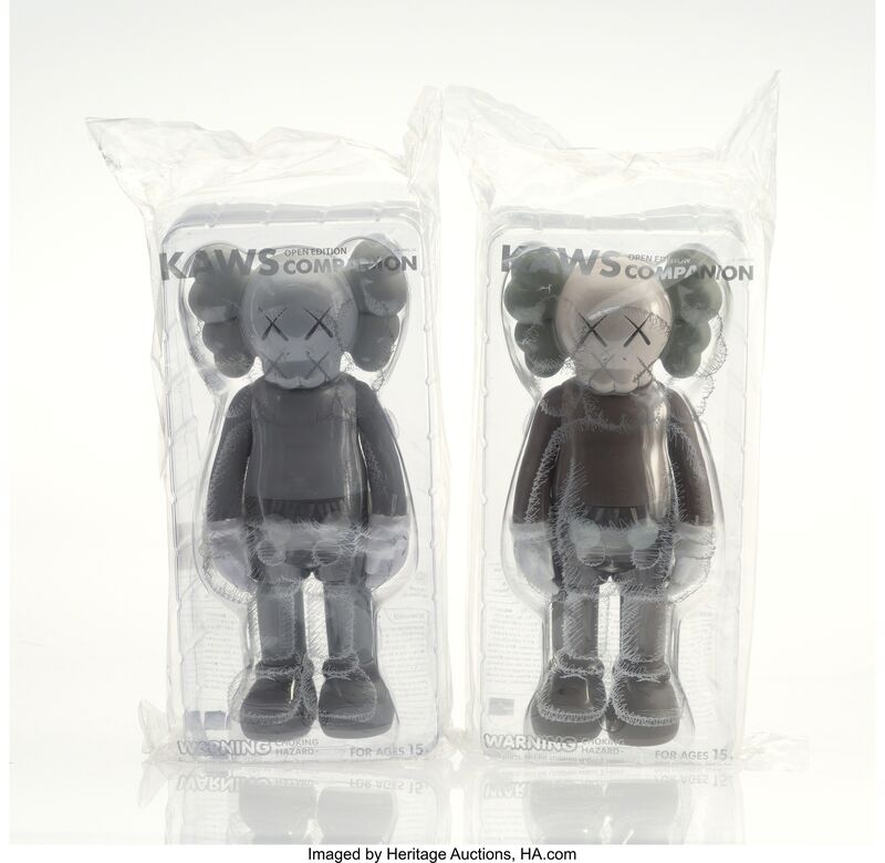 KAWS, 'Companion (Brown and Grey) (Open Edition) (two works)', 2016, Other, Painted cast vinyl, Heritage Auctions