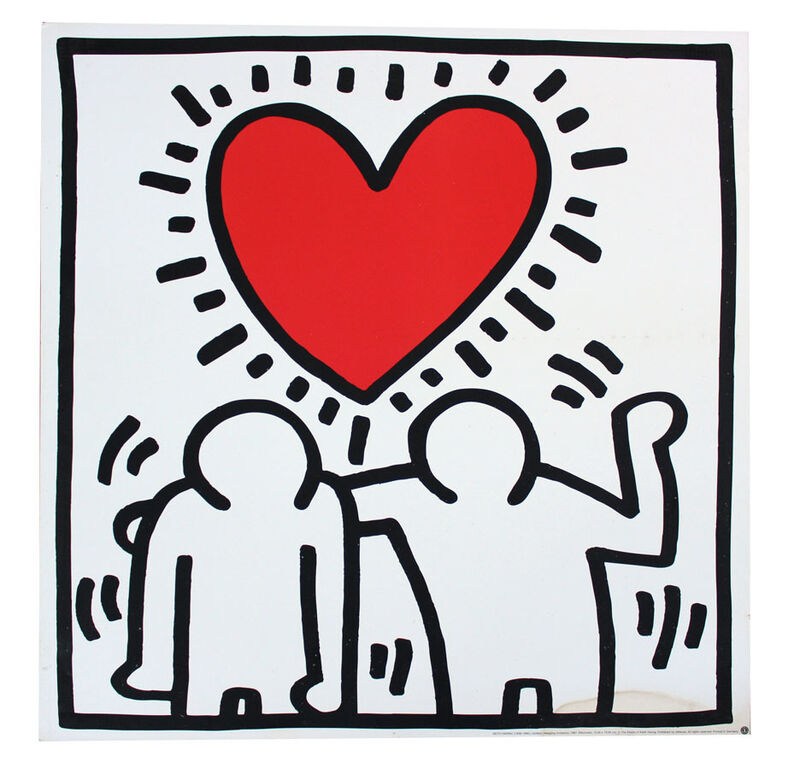 Keith Haring, 'Wedding Invitation', ca. 1993, Print, Offset lithograph mounted on wood, EHC Fine Art