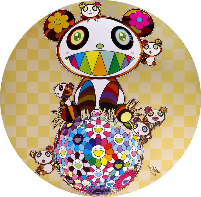 Takashi Murakami, 'Panda, Panda cubs and flower ball', 2020, Print, Lithograph, Kumi Contemporary / Verso Contemporary
