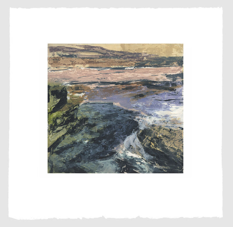 Donald Teskey, 'Fractured Shoreline II', 2013, Print, Intaglio & Carborundum, Stoney Road Press