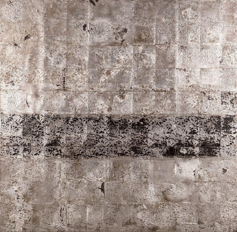 Hugo McCloud, 'Untitled', Mixed Media, Aluminum foil, aluminum coating and oil on tar mounted on wood panel, Finarte