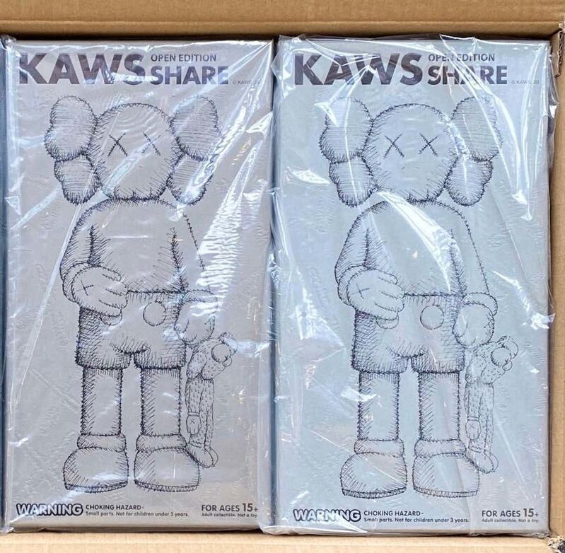 KAWS, 'KAWS SHARE Set of 2 (KAWS share companion Grey & Brown)', 2020, Sculpture, Painted Vinyl Cast Resin., Lot 180