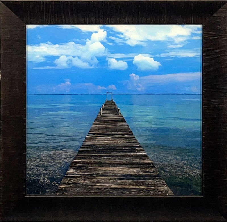 Peter Lik, ''Mexico Pier'', 2015, Photography, Acrylic print on Fujiflex Crystal Archive Media. Each image is then protected between 2 layers of Crystal Clear acrylic. Custom framed in heavy museum glass in 3in. wide textured dark wood frame molding., Signari Gallery
