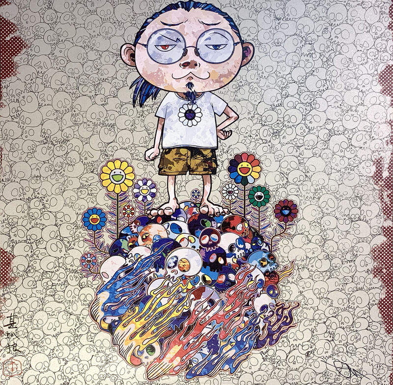Takashi Murakami, 'Flowers and Death and Me and…', 2013, Print, Offset Lithography, Art Works Paris Seoul Gallery