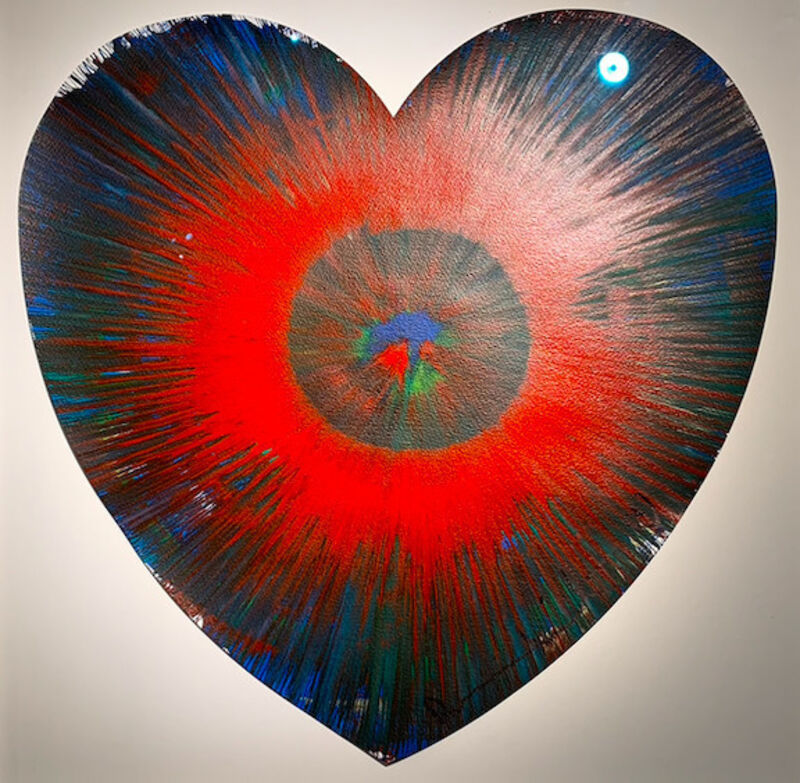 Damien Hirst, 'Spin Heart', 2009, Painting, Acrylic on paper, HOFA Gallery (House of Fine Art)