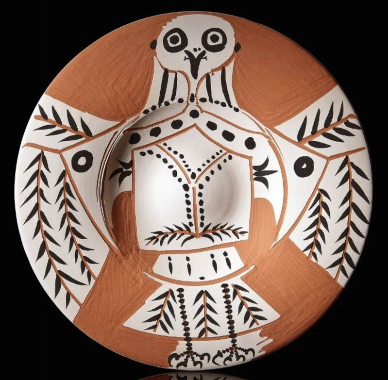 Pablo Picasso, 'Hibou blanc sur fond rouge (White Owl on Red Ground)', 1957, Sculpture, Ceramic, Masterworks Fine Art