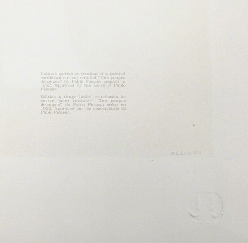 Pablo Picasso, 'UNE POUPEE DECOUPEE', 1979-1982, Reproduction, LITHOGRAPH, Gallery Art