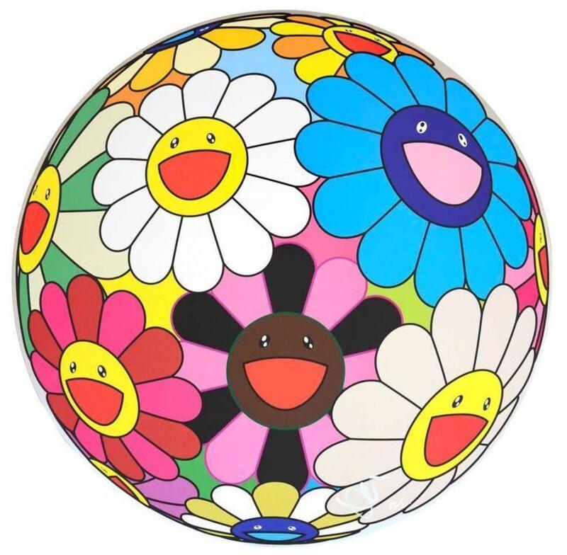 Takashi Murakami, 'Flower Ball (Algae Ball)', 2013, Print, Offset Lithograph, Lougher Contemporary
