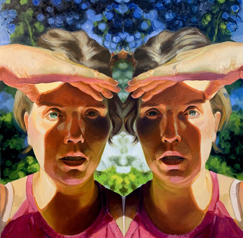 Ellen Starr Lyon, 'Looking to the Future with Trepidation', 2020, Painting, Oil on panel, 33 Contemporary