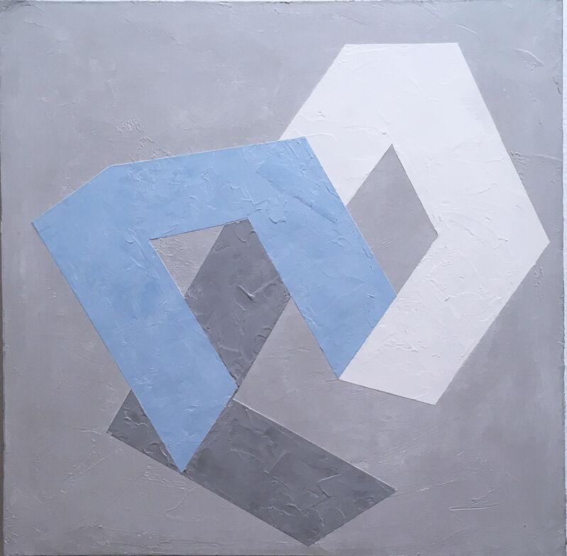 Kati Vilim, 'Options I', 2019, Painting, Plaster and acrylic on wood panel, Deep Space Gallery