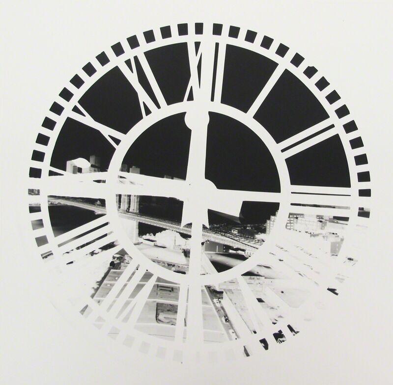 Vera Lutter, 'Clock Tower, Brooklyn, June 29', 2009, Photography, Unique gelatin silver print; printed 2009, Howard Greenberg Gallery