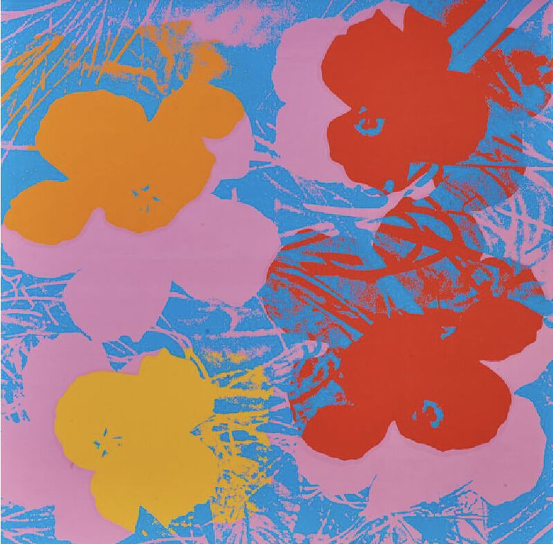 Andy Warhol, 'Look at Warhol (flowers) poster', 1970, Posters, Lithograph and silkscreen, Gallery 52