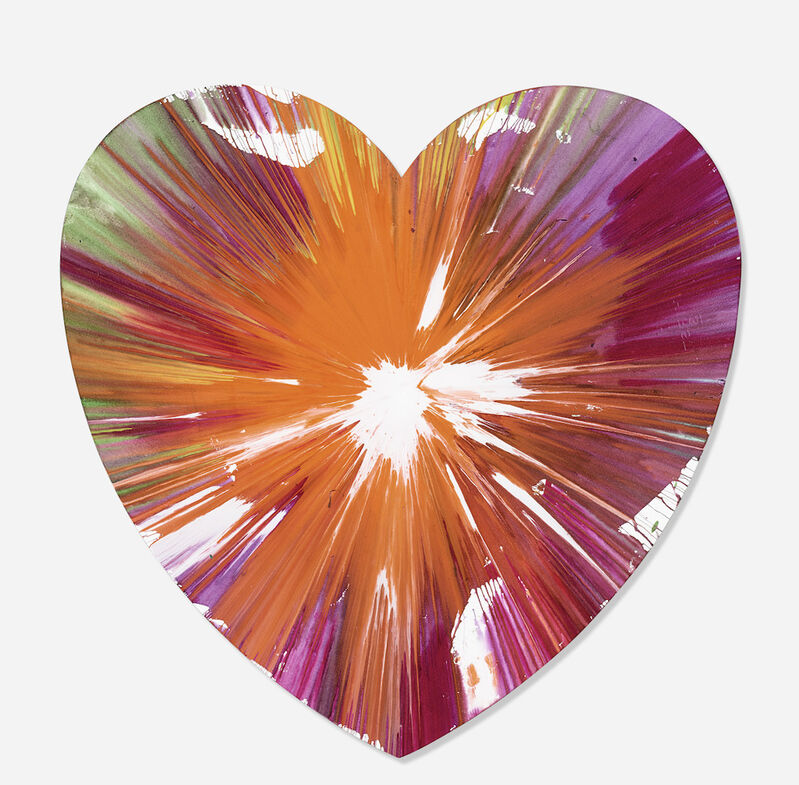Damien Hirst, 'Heart Spin Painting', 2009, Drawing, Collage or other Work on Paper, Acrylic on paper, Eternity Gallery