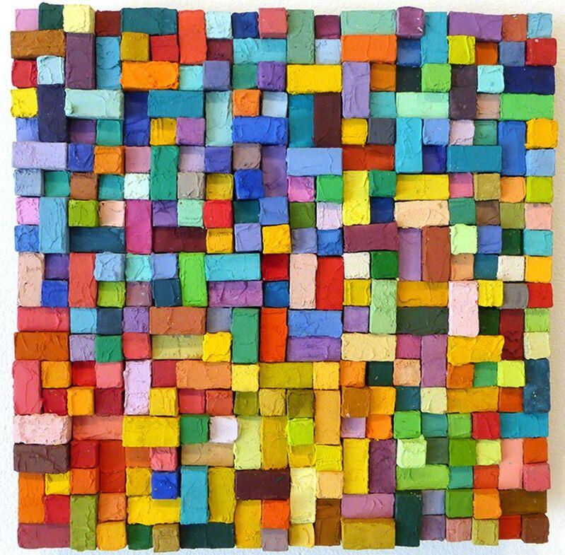 Carlos Estrada-Vega, 'Judina', 2015, Painting, Wax, limestone dust, oil, olepasto and pigments on wood, Margaret Thatcher Projects