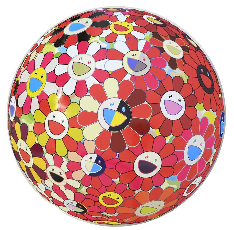 Takashi Murakami, 'Flowerball Red (3D) The Magic Flute.', 2009, Print, Offset Lithograph, Shapero Modern