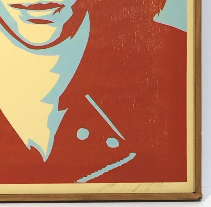 Shepard Fairey, 'Ramone Canvas', 2002, Print, Screenprint on canvas, Gregg Shienbaum Fine Art