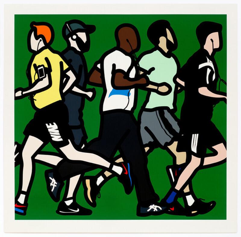 Julian Opie, 'Running Men', 2016, Print, Screenprint on paper in aluminium frame, DANE FINE ART