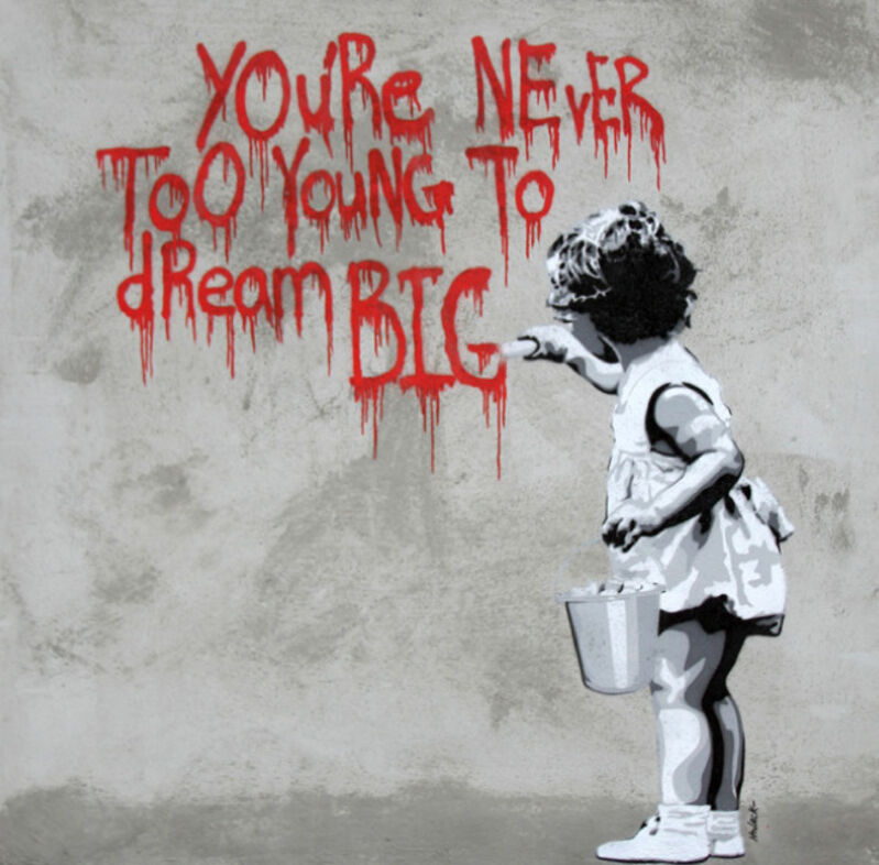Hijack, 'You're Never Too Young', 2017, Painting, Stencil and Spray Paint on Cement, Contessa Gallery