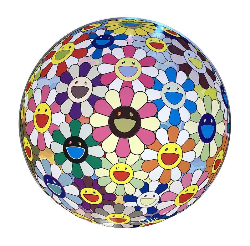 Takashi Murakami, 'Flower Ball (3D) Cosmos', 2008, Print, Offset print with silver, Art Works Paris Seoul Gallery