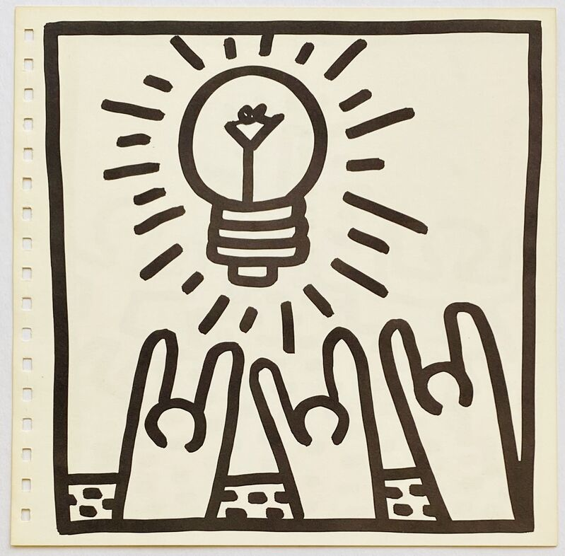 Keith Haring, ' Keith Haring 1982 lithograph (Keith Haring prints)', 1982 , Ephemera or Merchandise, Offset lithograph, Lot 180