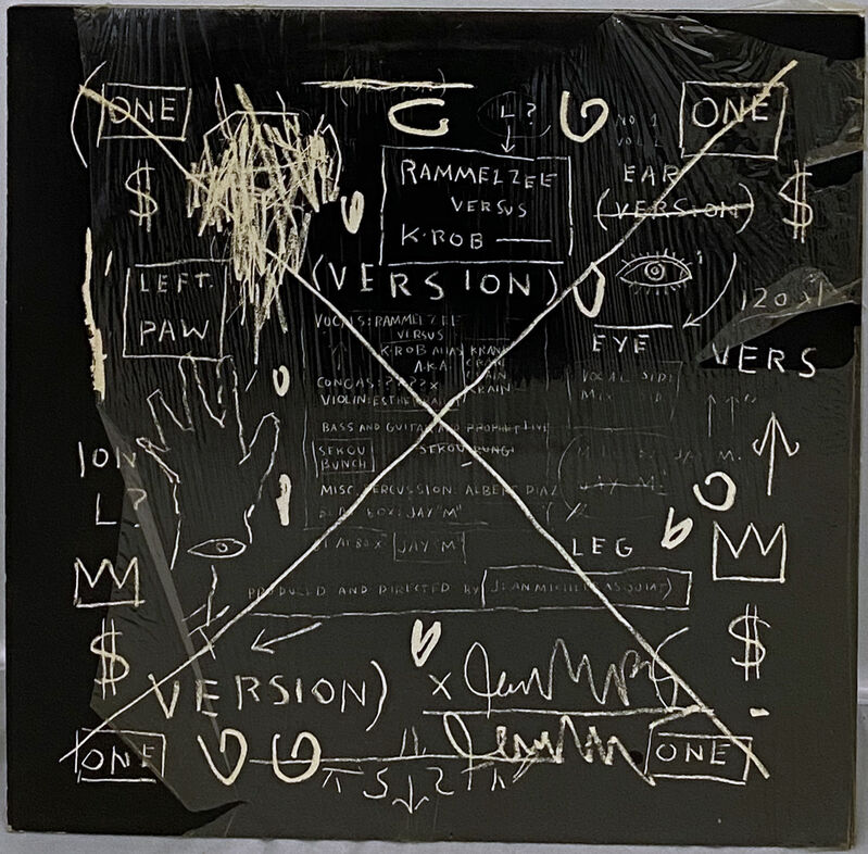 Jean-Michel Basquiat, 'Basquiat Beat Bop 1983 1st pressing (Original Basquiat Beat Bop)', 1983, Print, Offset lithograph on double-sided record cover; double-sided record label(s)., Lot 180