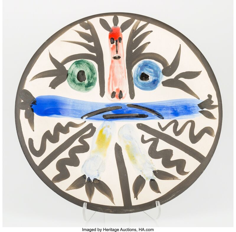 Pablo Picasso, 'Personnages No. 28', 1963, Other, Earthenware ceramic plate with hand painting, Heritage Auctions