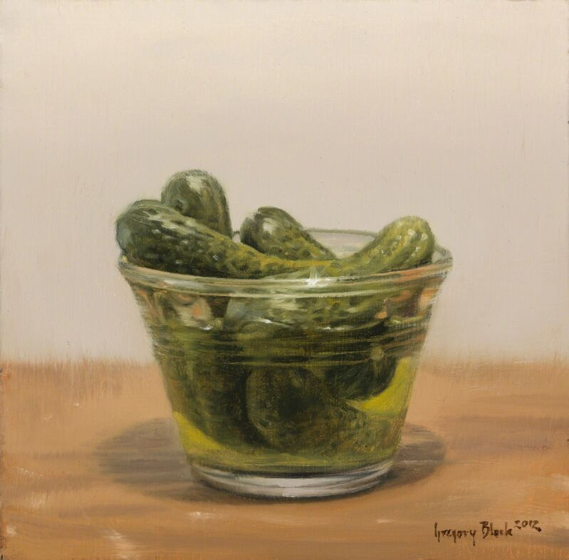 Gregory Block, 'Pickles in Dish', 2012, Painting, Oil, Gallery 1261